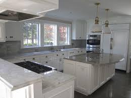 fascinating white kitchen cabinets with white granite countertops