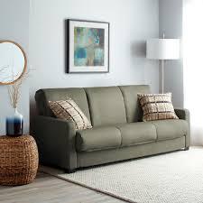 Overstock Sofa Bed Handy Living Trace Convert A Grey Microfiber Futon Sofa