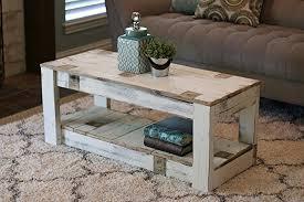 white farmhouse coffee table amazon com white farmhouse coffee table with shelf handmade