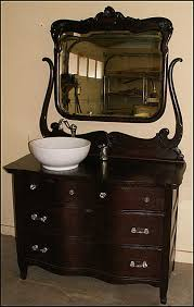 Bathroom Vanity Bowl by Photo Of Front View Antique Bathroom Vanity Serpentine Oak