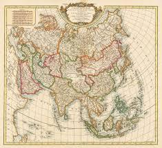 map asie 1750 carte de l asie dressee sur les relations les plus nouvelles