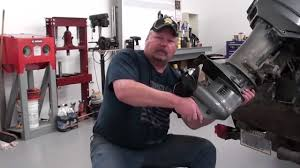 pt 1 suzuki dt25 outboard water pump service at d ray u0027s shop youtube