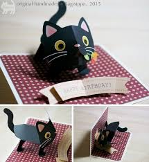 pop up cats kagisippo pop up cards 2 birthday cards pop ups