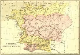 germania map germany germania rhaetia noricum collins 1870 map