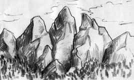 sketches of mountain landscapes royalty free stock photos image