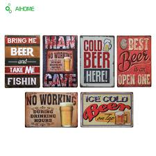 ai home decor ai home dream catcher with feathers wall hanging aihome cold beer metal sign pub homehotel bar decoration vintage iron plate painting wall home decor