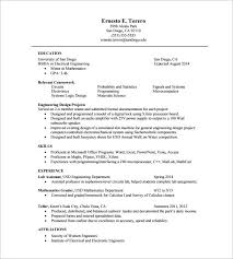 Electrical Engineering Resume Sample Pdf One Page Resume Template U2013 11 Free Word Excel Pdf Format