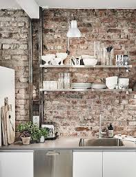 wall ideas for kitchen best 25 exposed brick kitchen ideas on brick wall