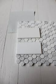 Grey And White Bathroom by Best 25 Hex Tile Ideas On Pinterest Subway Tile Bathrooms