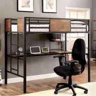 metal loft beds with desk full twin loft beds with desk
