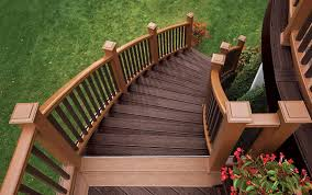 trex transcend composite decking and railing in tree house and