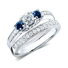 sapphire wedding rings images Diamond and sapphire wedding rings diamond and pink sapphire jpg