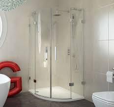 Shower Doors Brton 800x800mm 8mm Frameless Quadrant Shower Enclosure Bathrooms