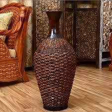Large Brown Floor Vase Vases Stunning Large Wicker Vases Wicker Vases Cheap Wicker