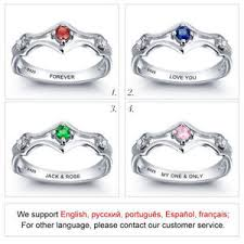 personalized engraved rings personalized engraved rings custom birthstones rings for women