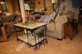 wrought iron and slate sofa table best home furniture decoration