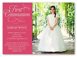 communion invitations timeless script girl 5x7 invitation communion invitations