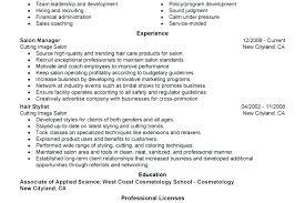 cosmetologist resume exles sle cosmetology resume