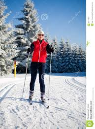 cross country skiing stock image image 8214181