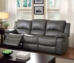 Gray Reclining Sofa by Reclining Sofa Cm6326 In Gray Leatherette W Options