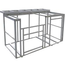 cal flame 6 ft outdoor kitchen island frame kit with bartop kd