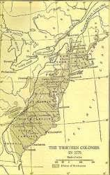 the thirteen colonies map the 13 colonies archiving early america
