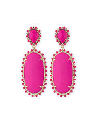 pink earrings kendra parsons statement earrings