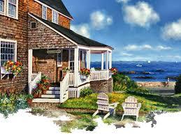 houses ocean avenue cottage warren painting sailing gretchen