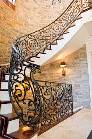gorgeous wrought iron spiral stair railing hand forged in our