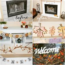 simple fireplace makeover easy fall decor ideas u2013 lively little home