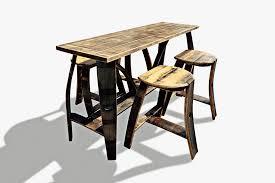 Bar Table And Stool Tall Bar Table 4 Stools U2013 Bourbon Barrel Furniture U2013 Bourbon