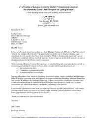 cover letter undergraduate