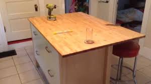 Ikea Kitchen Island Table by Ikea Varde Four Drawer Kitchen Island Assembly Tutorial Youtube