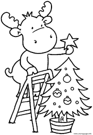 christmas tree children coloring pages printable