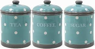 kitchen canisters australia turquoise aqua polka dot ceramic tea coffee sugar canisters by