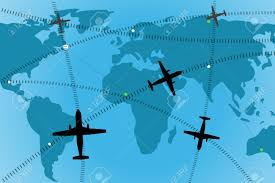 Airline Routes Map by Illustration Of Airline Route On World Map Stock Photo Picture