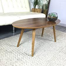mid century modern surfboard coffee table walnut petagadget