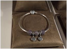 pandora silver bangle charm bracelet images Cheap pandora silver bangle with heartshaped clasp and cubic png