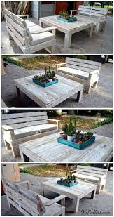 Pallet Furniture Patio by 27 Best Pallet Furniture Images On Pinterest Projects Diy And