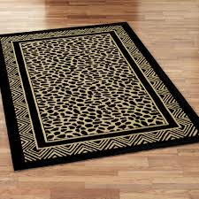 brown and black rug home decor bssoi wild leopard print hooked