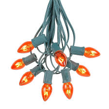 orange icicle lights halloween orange c7 bulbs novelty lights inc