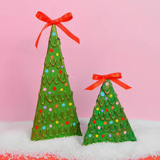 mark montano recycled cardboard christmas trees