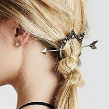 hair clasp new designer vintage antique gold arrow triangle hair clasp