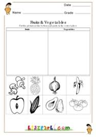 fruits and vegetables worksheets cut and paste activities for