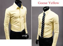 light yellow mens dress shirt men fashion luxury long sleeves casual suits slim fit formal dress