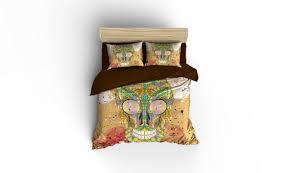 sugar skull duvet covers home decor bedding bedroom decor