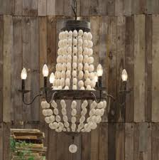 wood bead ceiling light interior creative white wood bead chandelier with ceiling light