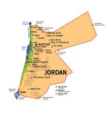 Jordan World Map by Map Petra By Night
