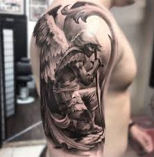 st michael fantasy arm tattoo best tattoo design ideas