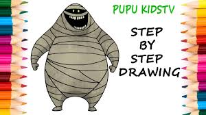 how to draw mummy hotel transylvania 2 art for kids coloring